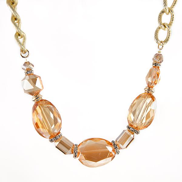 SN270: Golden Taupe Necklace Set