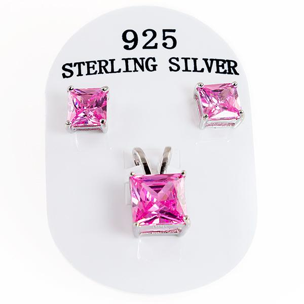 SN281SS: Sterling Pink Ice Set