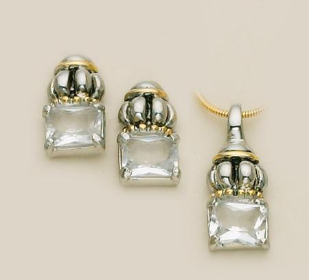 SN65C: Yurmanesque Crystal Pendant & Earrings Set