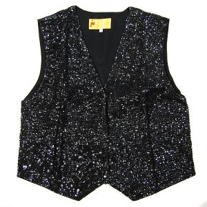 VE106: Black Sequin Vest