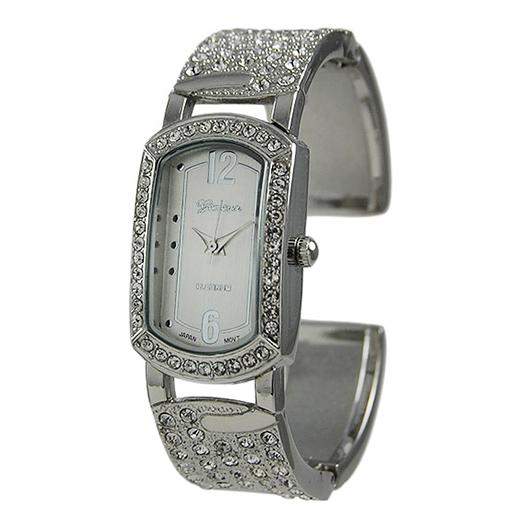 WA103: Stylish Crystal Cuff Watch