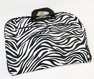 LL19Z: Zebra Garment Bag Fuschia Ribbing