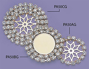 PA50C: Triple Row Crystal Enhancer in Silver or Gold
