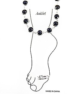 AN18; Jewel Tone Anklet and Toe Ring
