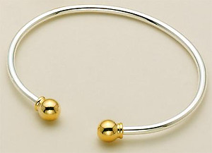 BR100TD: Versatile Designer Bangle Bead Bracelet (Shown w/ Beads)