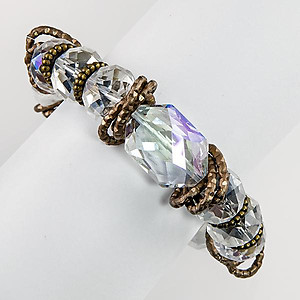 BR308C:Exotic Multi Faceted Bracelet