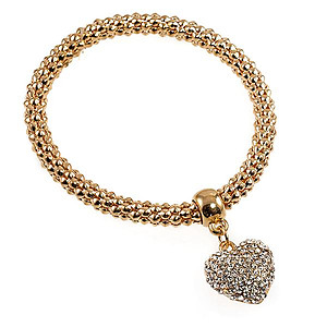 BR329: Yurmanesque Heart Stretch Bracelet