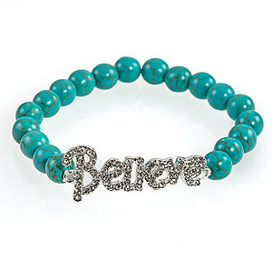 BR331:Crystal Believe or Dream Bracelet