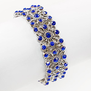 BR344: Sapphire and Silver StretchBracelet