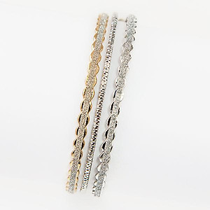 BR355: Two Tone Diamond Dust Bracelets