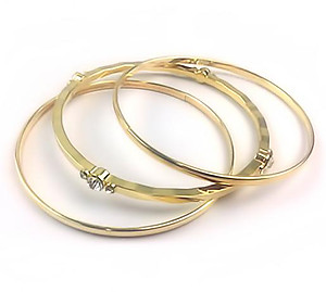 BR425: Set of 3 Gold or Silver Bangle Bracelets
