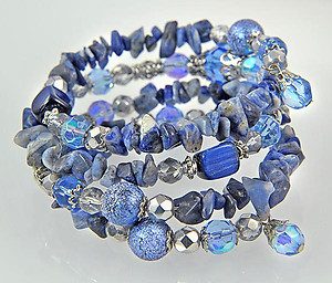BR222: Lapis Beaded Memory Bracelet (3 Colors Available)