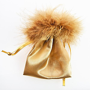 BXP23T: Feather Golden Gift Bag