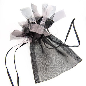 BXP61: Frilly Black Organza Gift Bag