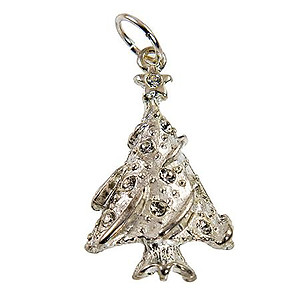 CH398: Elegant Christmas Tree Charm or Pendant