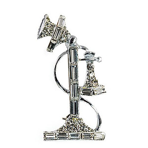 CL193: Crystal Telephone Pin