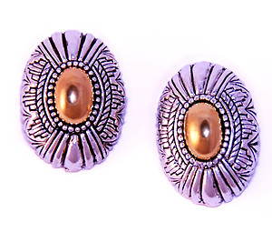 EA355: 2-Tone Brightonesque Earrings