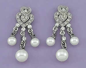 EA445: Crystal & Pearl Earrings