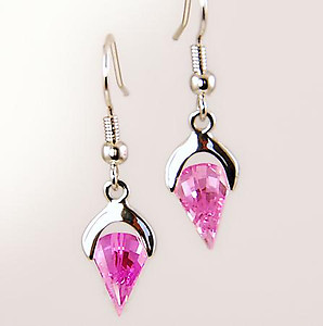 EA477: CZ Pink Ice Fantasy Earrings