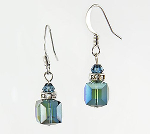 EA483S: Swarovski Crystal Sapphire Earrings