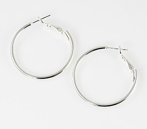 EA501: Hoop Earrings in Silver or Gold