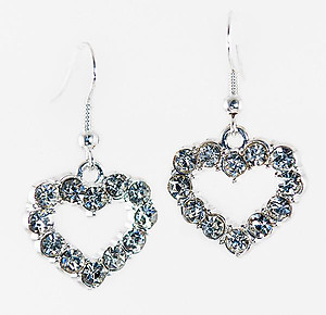 EA558:Crystal Heart Earrings