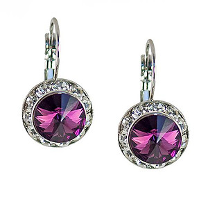 EA560A: Amethyst Swarovski Crystal Earrings