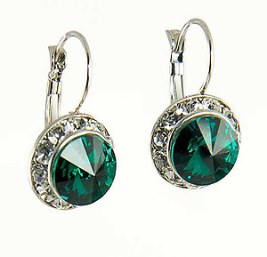 EA560G: Emerald Green Swarovski Earrings