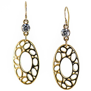 EA576: Brightonesque Oval Earrings Gold
