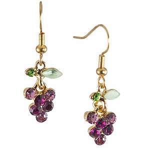 EA613: Delicate Grape Earrings