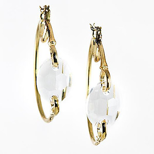 EA616: Hoop Earrings with Crystal