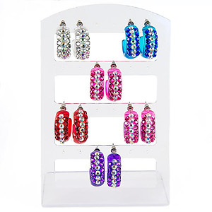 EA633: Six Pairs of Crystal Hoops
