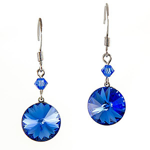 EA665: Sapphire Crystal Earrings