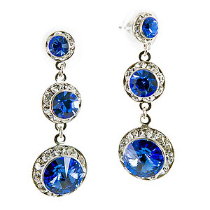 EA666: Swarovski Sapphire Chandelier Earrings