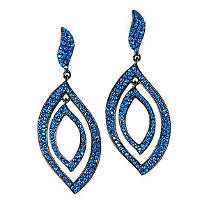 EA671:Elegant Teardrop Sapphire Earrings