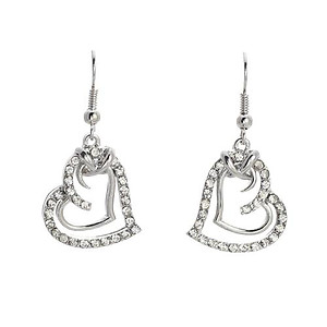 EA685: Austrian Crystal Heart Earrings