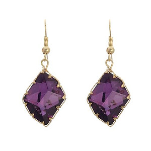 EA686: Multi-Faceted Fuchsia or Amethyst Earrings