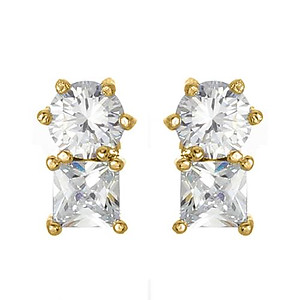 EA687: Classic CZ Earrings