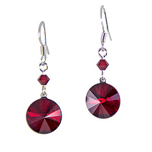 EA694: Red Austrian Crystal Earrings