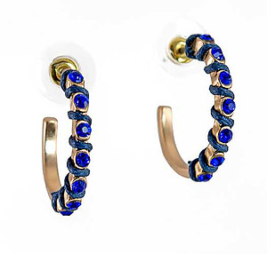 EA732: Austrian Crystal Sapphire Blue Earrings