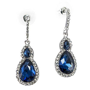 EA735: Swarvoski Crystal Teardrop Earrings