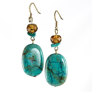 EA738: Turquoise drop Earrings