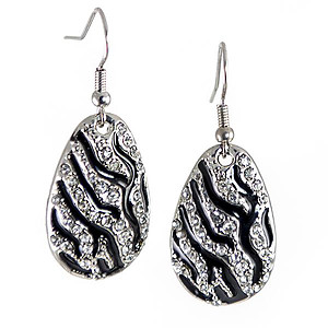 EA740: Zebra Crystal Earrings