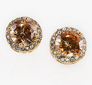 EA81A: CZ Light ColoradoTopaz Earrings