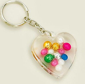 KE42: Lucite Heart Key Chain