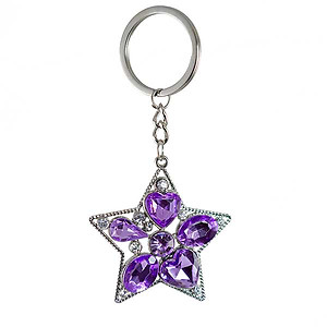 KE66: Jewel Tone Star Keychain