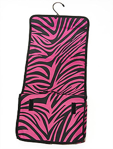 LL07PZ: Pink Zebra Cosmetic / Lingerie Travel Bag (Also in Black & White Zebra)