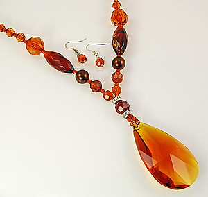 NA202: Stunning Topaz Necklace & Earring Set