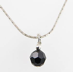 NA221: Black Austrian Crystal Necklace