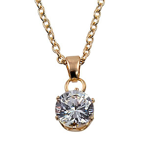 NA282: Elegant Solitaire or Heart Necklace